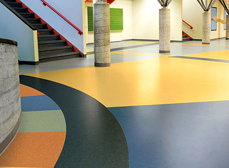 Vinyl flooring atom designs for Commercial grade flooring options